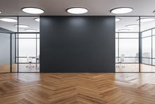 Blank Gray Wall In Coworking O...