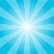 Blue Sunburst Vector Retro Ill...