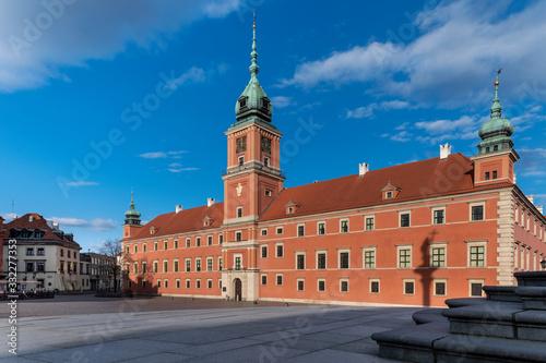 Fototapeta Royal Castle at empty Old Town in Warsaw obraz