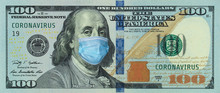 Medical Mask On A Banknote Of ...