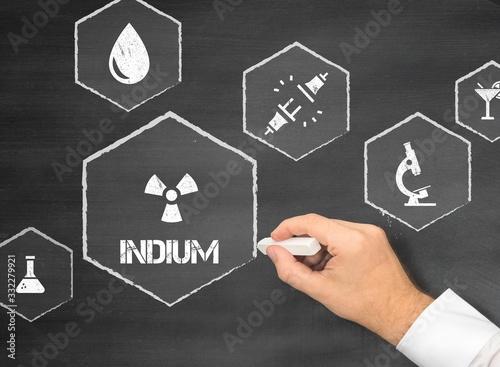 Obraz na plátně Indium