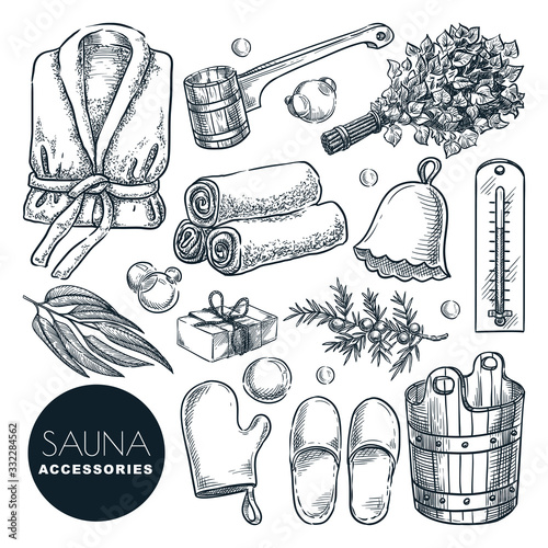 Cuadros en Lienzo Sauna and bathhouse accessories set