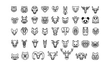 Animal Icons Set, Vector Line ...