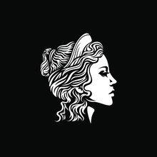 Beautiful Goddess Vector Logo ...