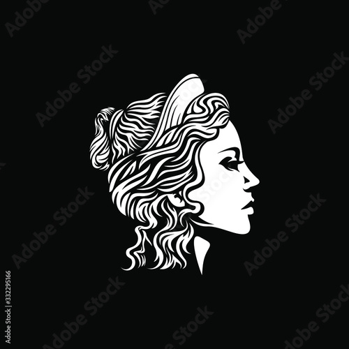 beautiful goddess vector logo design Canvas-taulu