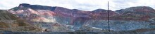 Look At An Open-pit Copper Mine In New Mexico