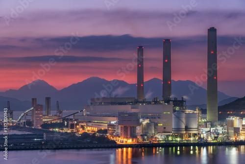 Fototapeta Power station at dusk obraz