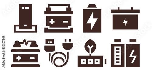 Photo accumulator icon set