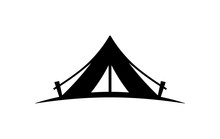 Camping Tent Vector Icon On A ...
