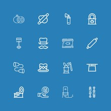 Editable 16 Cylinder Icons For Web And Mobile