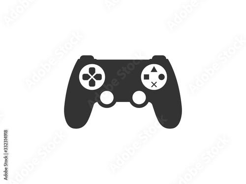 Controller, joystick icon. Vector illustration, flat design.