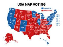 Usa Map Voting. Presidential E...