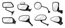 Side Mirror Vector Cartoon Set...