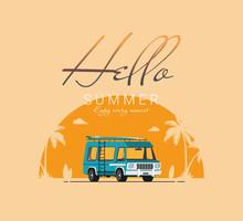 Summer Holidays Vector Illustr...