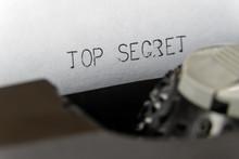 Close Up Printed Text Top Secr...