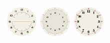 Universal Set 2 Of Classic Dials For Wall, Height, Tower Clocks