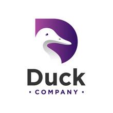 Duck Logo Design Letter D