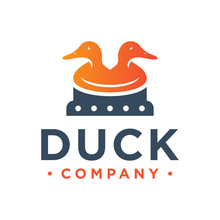 Two Duck Head Logo Design