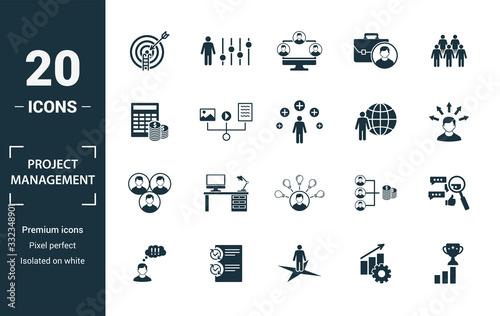 Leinwand Poster Project Management icon set