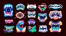 Terrible Monster Mouths. Scary...