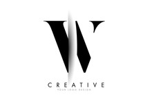 W Letter Logo With Creative Sh...