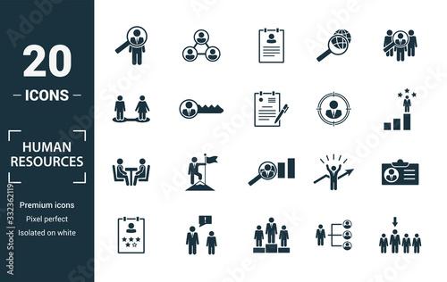 Human Resources icon set Fotobehang