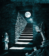 Horror Old Underground Room Ba...