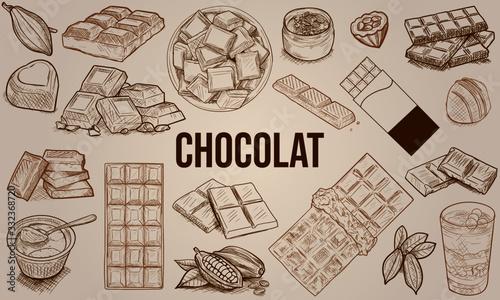 Photo Chocolat - Dessins