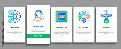 Rpa Cyber Technology Onboarding Mobile App Page Screen Vector Canvas Print