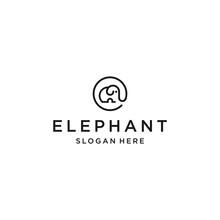Elephant Logo Icon Design Vector