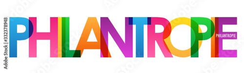 Fototapeta Bannière typographique vecteur PHILANTROPIE