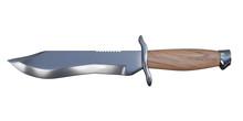 3d Rendering Bowie Knife
