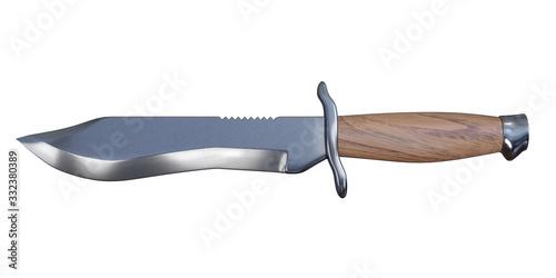 3d rendering bowie knife Billede på lærred