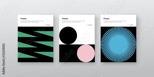 Stampa su Tela Bauhaus Design Poster Mockup Collection