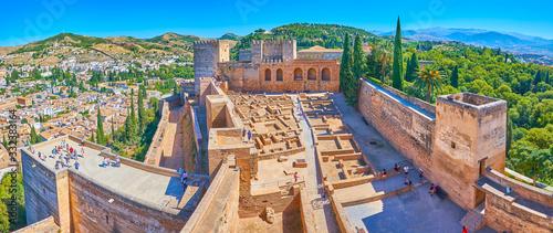 Obraz Alcazaba from Watch Tower, Alhambra, Granada, Spain - fototapety do salonu