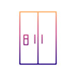 fridge nolan icon. Simple thin line, outline vector of Appliances icons for ui and ux, website or mobile application