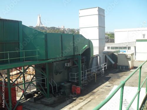Vászonkép Algiers Hamma Power Plant