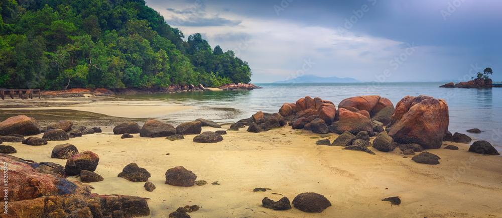 Fototapeta Penang national park, Malaysia. Panorama