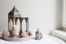 Silver Decorative Cup Of Tea, ...