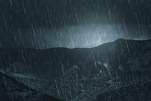 Rainy Weather Dark Landscape, ...