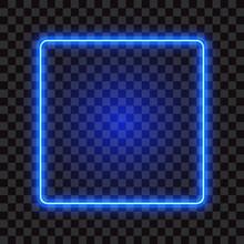 Blue Neon Square Frame, Sign O...