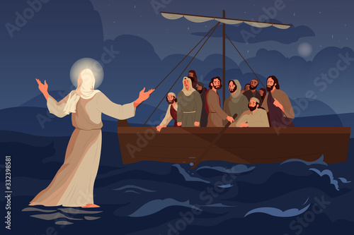 Photo Bible narratives about Jesus walking on water