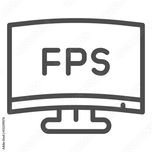 Photo FPS definition line icon