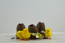 Chocolate Easter Eggs In Nests...