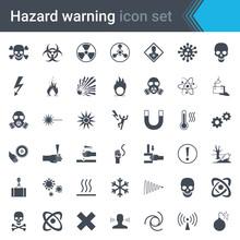 Hazard Warning Signs. Set Of S...