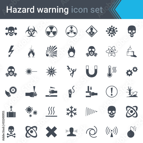 Photographie Hazard warning signs