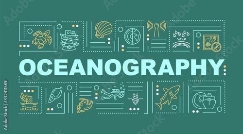 Fototapeta Oceanography word concepts banner