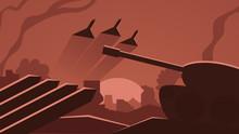Vector Illustration Of A War S...
