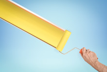 Hand Painting Yellow Stripe Wi...