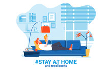 Flat Modern Design Illustration Of Stay At Home 3